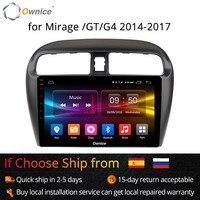 Ownice K1 K2 9 inch 8 Core 2G+32G Android 8.1 Car radio for Mitsubishi Mirage GT G4 2014 2017 GPS navigation 4G LTE carplay