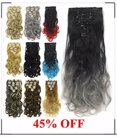 soowee 15 цветов 16 зажимы длинные волнистые синтетические волосы блондин черный клип в наращивание волос комплект глава мега кусок волос для для женщин