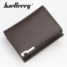 Baellerry Solid Men Short Wallet PU Leather Zipper Hasp Wallet Coin Pocket Card Holder Photo Holder Note Compartment Men Wallet baellerry men solid black long wallet pu leather zipper n rope wallet coin pocket card holder photo holder business wallet men