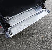 Bmw x5 g05 2019 2020 스테인레스 내부 후면 도어 트렁크 범퍼 펜더 프로텍터 씰 커버 프레임 트림 스티커 액세서리 3 pcs