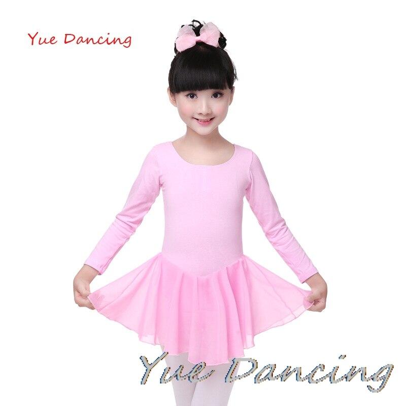De Manga larga de Algodón Lycra Ballet Vestido de Arco Grande ropa ...