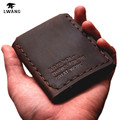The Secret Life Of Walter Mitty Vintage brown Wallet Handmade Slim Purses Card Holder Crazy Horse Leather Wallet Men Money Bag