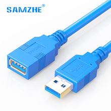 Фотография SAMZHE USB 3.0 Extension Cable Flat/Round Male to Female AM to AF USB3.0 USB Data Sync Transfer Extender cable 1m 1.5m 2m 3m 5m