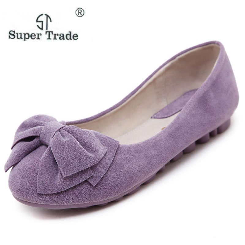 2018 Spring New Korean Peas Shoes Flat Shoes Shallow Mouth Bow Round Soft Bottom Large Size 35-43 Shoes Women ym 2018 eu 35 40 spring autumn new fashion casual bow tie womens flat shoes woman shallow peas shoes ladies girls zapatos mujer