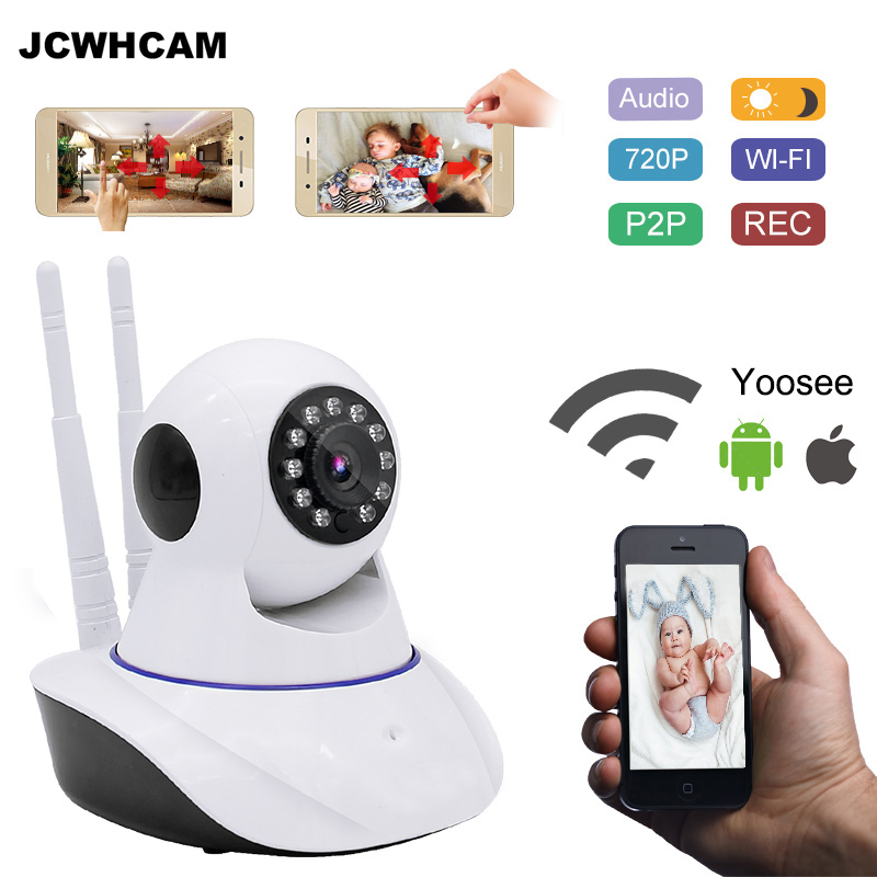 JCWHCAM 720P Security Network CCTV Wifi Home Surveillance Camera Wireless HD Security IP Camera IR Night Vision baby Monitor 720p hd home security ip camera wireless network cctv surveillance camera wifi ir cut night vision baby monitor security camera