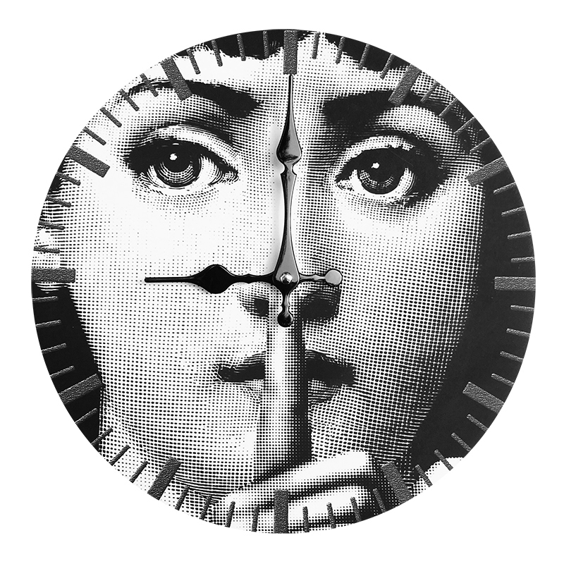 Fornasetti Clock Lina Cavalieri Wall Decorative Wooden