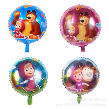 1pcs The new 18-inch Martha and bear aluminum film balloon wedding dress childrens toy decorative balloons
