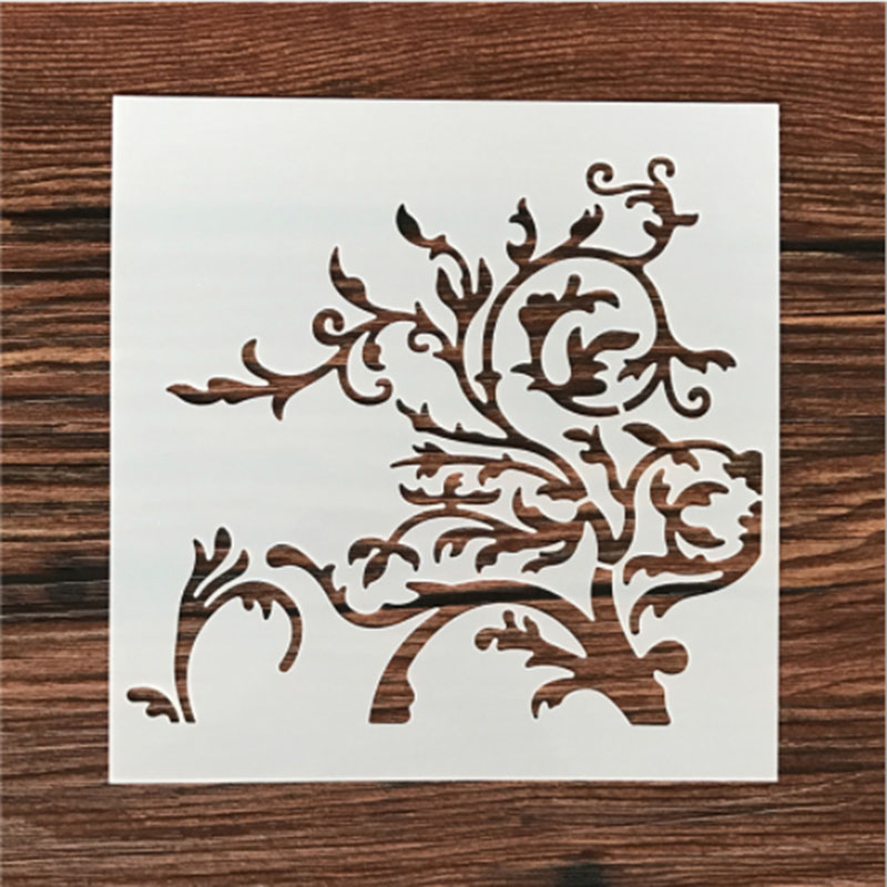 1PC Enchanted Tree Branches Flower Shaped Reusable Stencil Airbrush Painting Art DIY Home Decor Scrap Booking Album Crafts