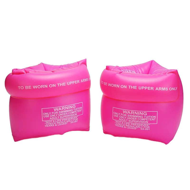1 คู่ผู้ใหญ่เด็ก PVC ความปลอดภัยการฝึกอบรม Inflatable กลางแจ้งสระว่ายน้ำว่ายน้ำแหวนลอยแขนวงกลมลอยน้ำ Air แขน