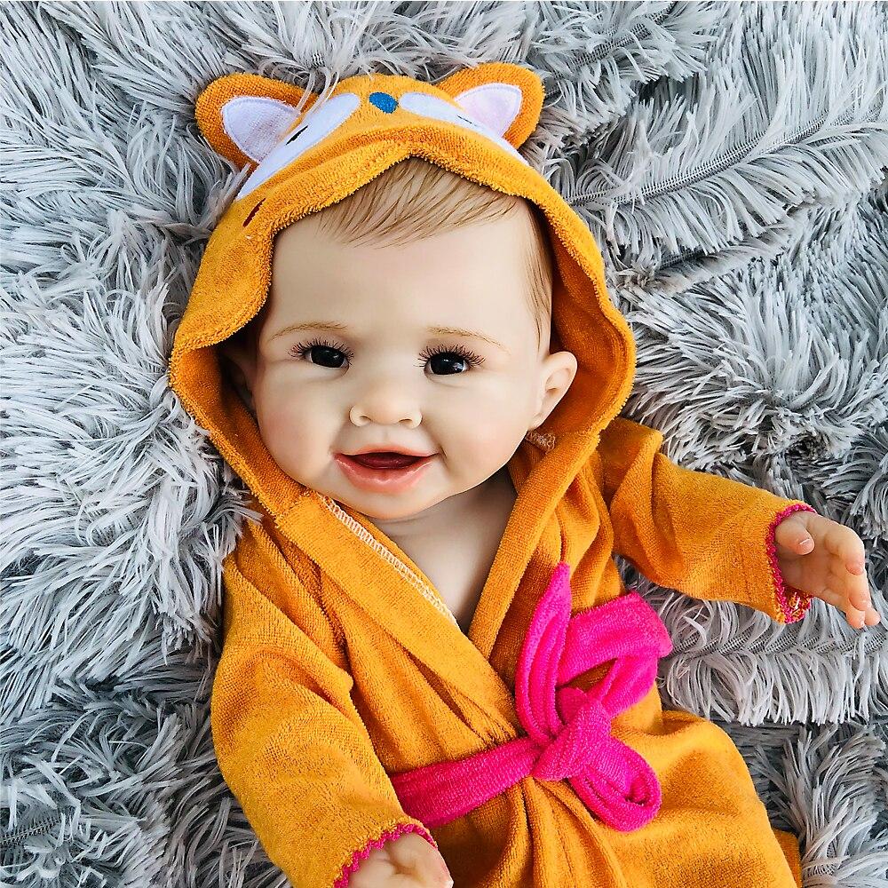 Corps entier Silicone Reborn bébé poupée garçon enfants Playmate cadeau 50 cm bébé vivant doux jouets pour Bouquets poupée Bebes Reborn