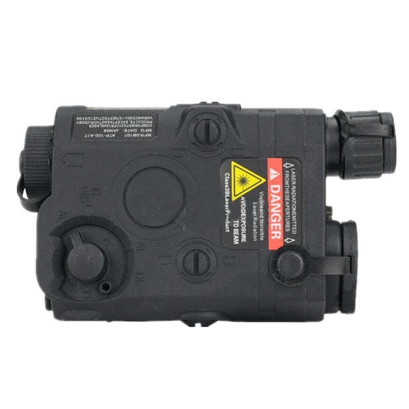 Tactical PEQ 15 Battery Case battery box + green laser black DE FG