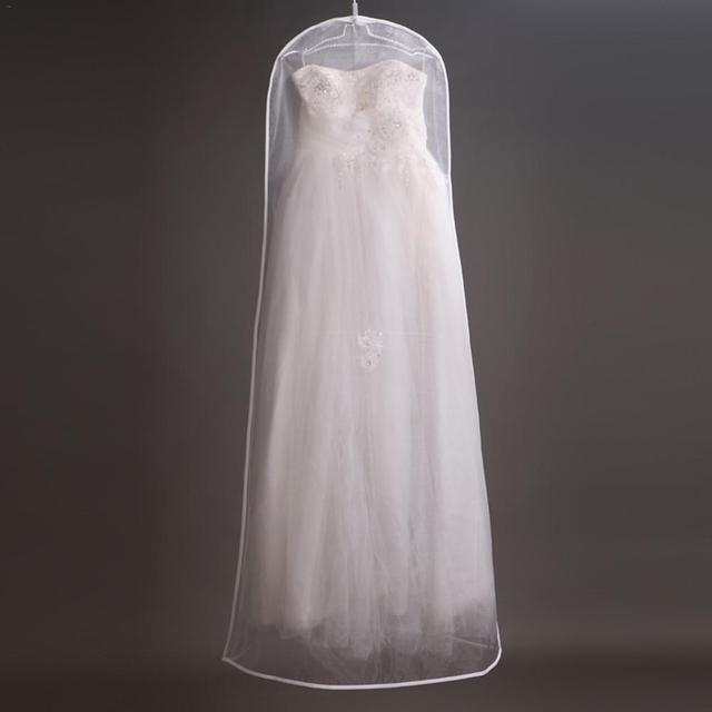 Wedding Dress Dust Bag Womens Clothing Storage Bag Display Display Case Transparent Double sided Mesh