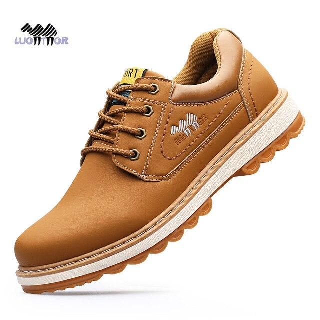 83ea69c0ea Sapatos De Couro Homens Sapatos casuais Respirável Sneakers Moda Calçados  Masculinos Sapatos De Couro De Qualidade