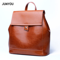 Backpack Bags For Women Split Leather Simple Casual Fashion Brown Large Soft Sac A Main Travel Backpacks Bags For Teenage Girls
