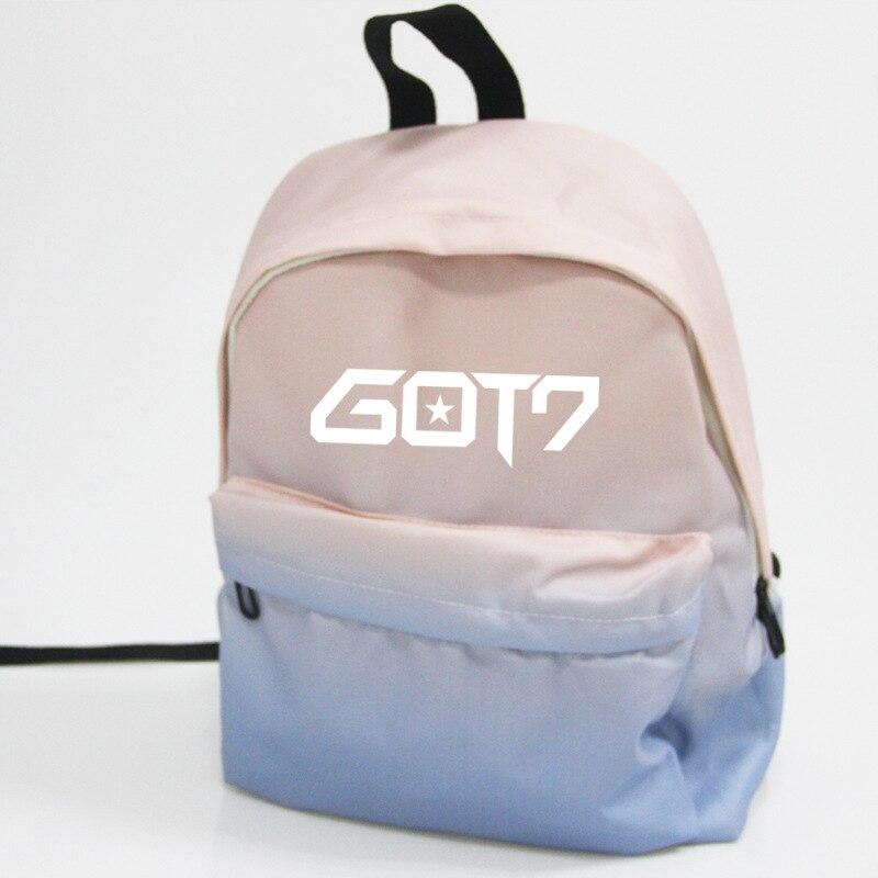 Got7 Mochila Bts Bt21 School Tassen Rucksack Frau College Bookbag Leather Bagpacks For Girls Shoulder Bag Women Casual Backpacks Men's Bags