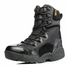 High Quality 2017 Outdoor Men commando 07 Combat Boots Winter Desert Tactical Climbing Hiking Marines Military ankle Shoes