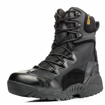 High Quality 2019 Outdoor Men commando 07 Combat Boots Winter Desert Tactical Climbing Hiking Marines Military ankle Shoes