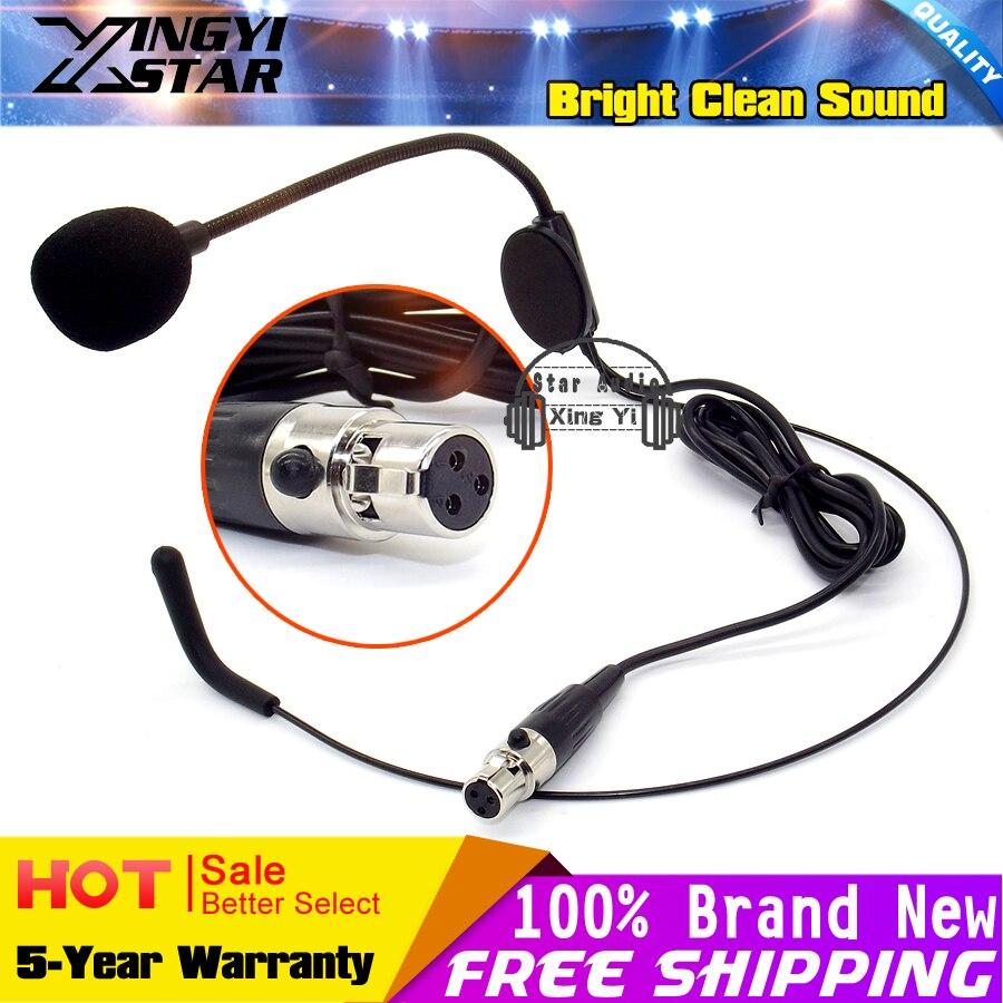 Mini XLR 3 Broches TA3F Plug Coude Tête-Monté Serre-Tête Micro Casque Microphone Bandeau Mikrofon Mike Pour SAMSON Sans Fil système