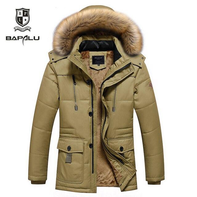Winter new jacket en Plus thick velvet warm coat jacket men's casual hooded Cotton jacket coat Middle-aged Outerwear M-4XL 5XL