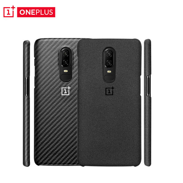 brand new 8d499 0db4b US $25.49 15% OFF|OnePlus 6 Protective Case Original Sandstone Karbon  Genuine Official One Plus 6 Case Carbon Fiber OnePlus6 PC Cover Kevlar-in  ...