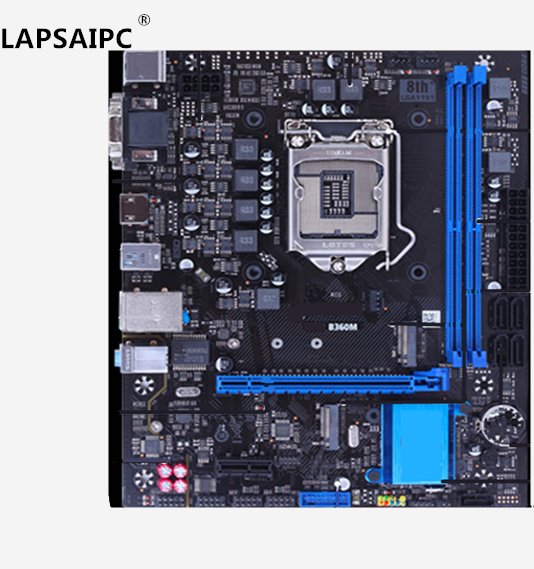 Lapsaipc B360 SY-B360M desktop PC mainboard gaming motherboard support i3 8100 i5 8400 i ...