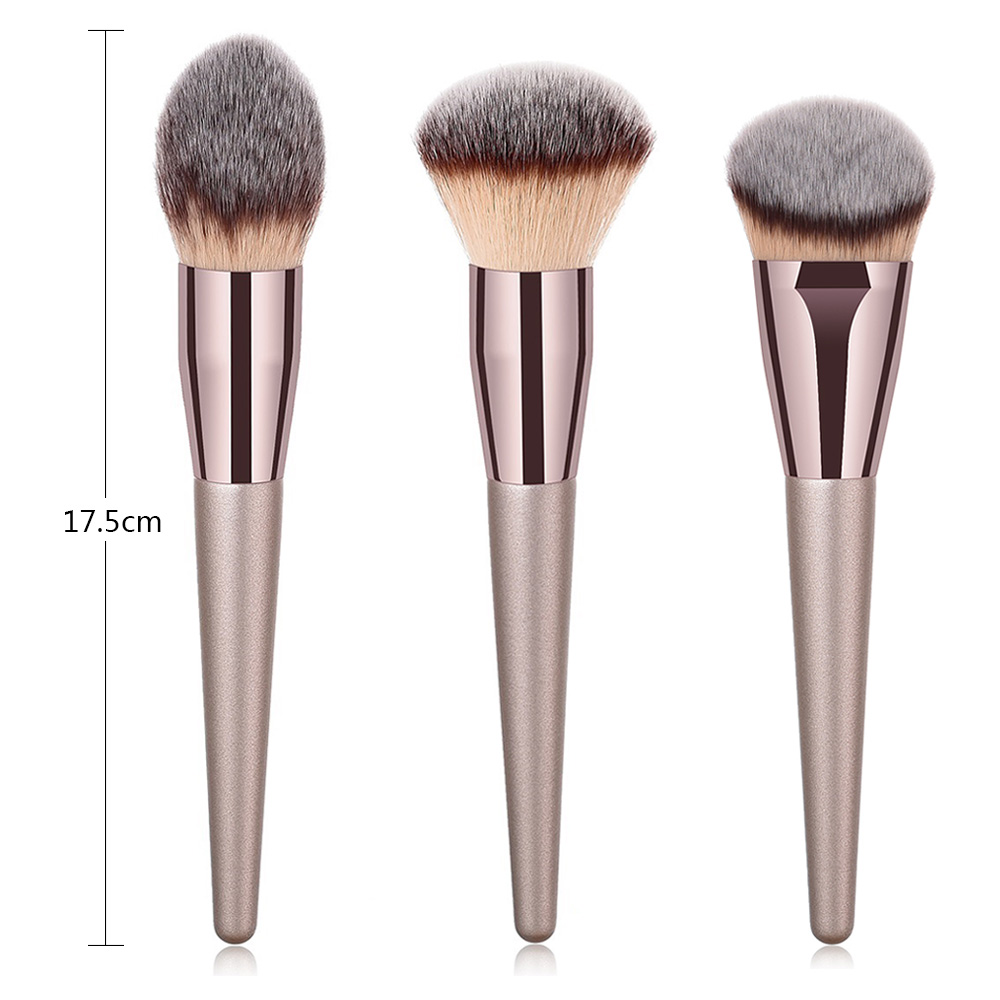 1PCS Large Powder Makeup Brush For Beauty Nature Bristle Foundation Brochas Maquillaje Champagne Gold Make Up Brush High Quality