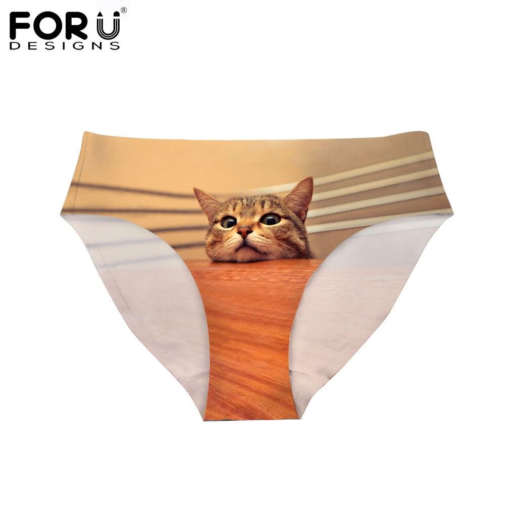 FORUDESIGNS Roztomilé zvířecí kalhotky pro tisk Dámské Prodyšné Neformální Bezešvé Kalhotky Dámské sexy spodní prádlo Spodní prádlo Calcinhas
