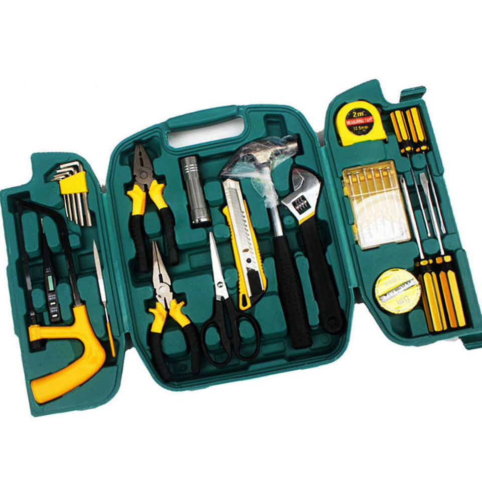 27PCS Three Folding Toolbox Hand Tool Set Repair Saw Wrench Screwdriver Knive Hammer Professional Household Combination Tool Kit27PCS Three Folding Toolbox Hand Tool Set Repair Saw Wrench Screwdriver Knive Hammer Professional Household Combination Tool Kit