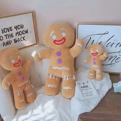 Large Size30/ 50/60CM Shrek Gingerbread Man Bigheadz Stuffed Plush Toys Soft Cushion Pillow Dolls Kids Gift