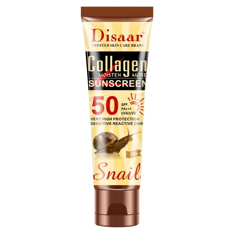 SPF 50 Moisturizing Anti-uv Sun Cream Collagen Snail Essence Sunscreen Whitening Anti-Aging Oil-control For Face Care