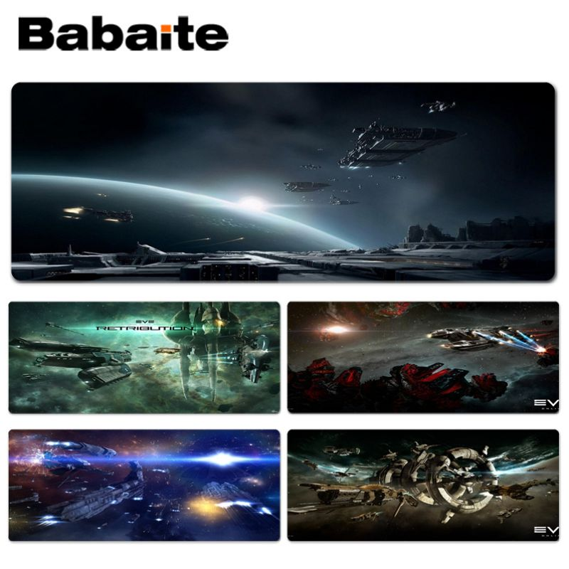 Babaite Funny Game EVE Online Keyboard Gaming MousePads Size for 300*900*2mm and 400*900*2mm Design Mouse Pad