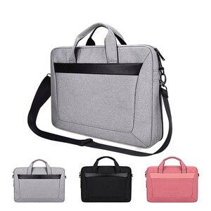 Через плечо ремешок сумка для ноутбука, чехол для ноутбука 13 14 15 15.6 дюймов, сумка для Macbook Air Pro 13.3 15.4 Портфель универсальный Сумка для Dell hp samsung