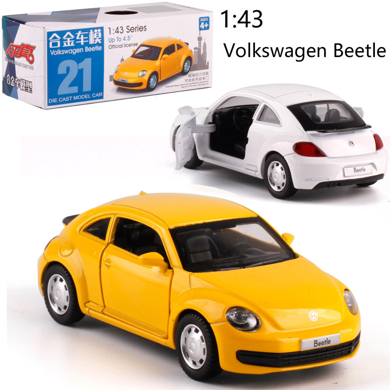 1:38 Scale VW Beetle Alloy Pull-back Car Diecast Metal Model Car For Collection Friend Children Gift