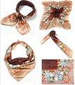 Новые популярные Довольно цветок шарф женщин шеи шелковый шарф Цветочный шарф дешевые китай дамы Оголовье цветок шарф snood шарфы