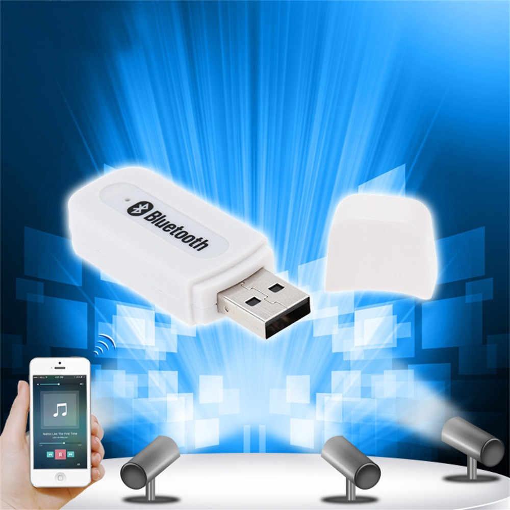 HIPERDEAL Bluetooth アダプタワイヤレス 3.5 ミリメートルステレオオーディオ音楽受信機車 AUX スピーカーアダプタコンバータ BAY28