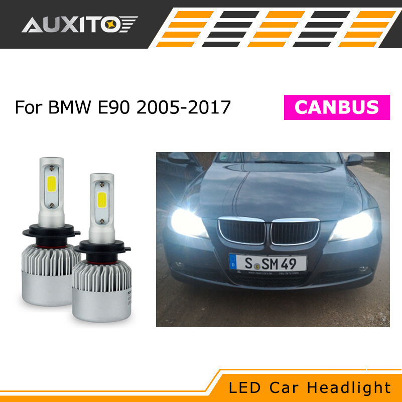 Canbus H7 LED Car Headlight Error Free Headlamp Fog Light For BMW E90 M3 M 320d 320i 318i 325i 328i 330d 330i 3 Series 2005-2017 h11 h8 led projector fog light drl no error for bmw e71 x6 m e70 x5 e83 f25 x3 2004 for e53 x5 2003 2006 e90 325 328 335i