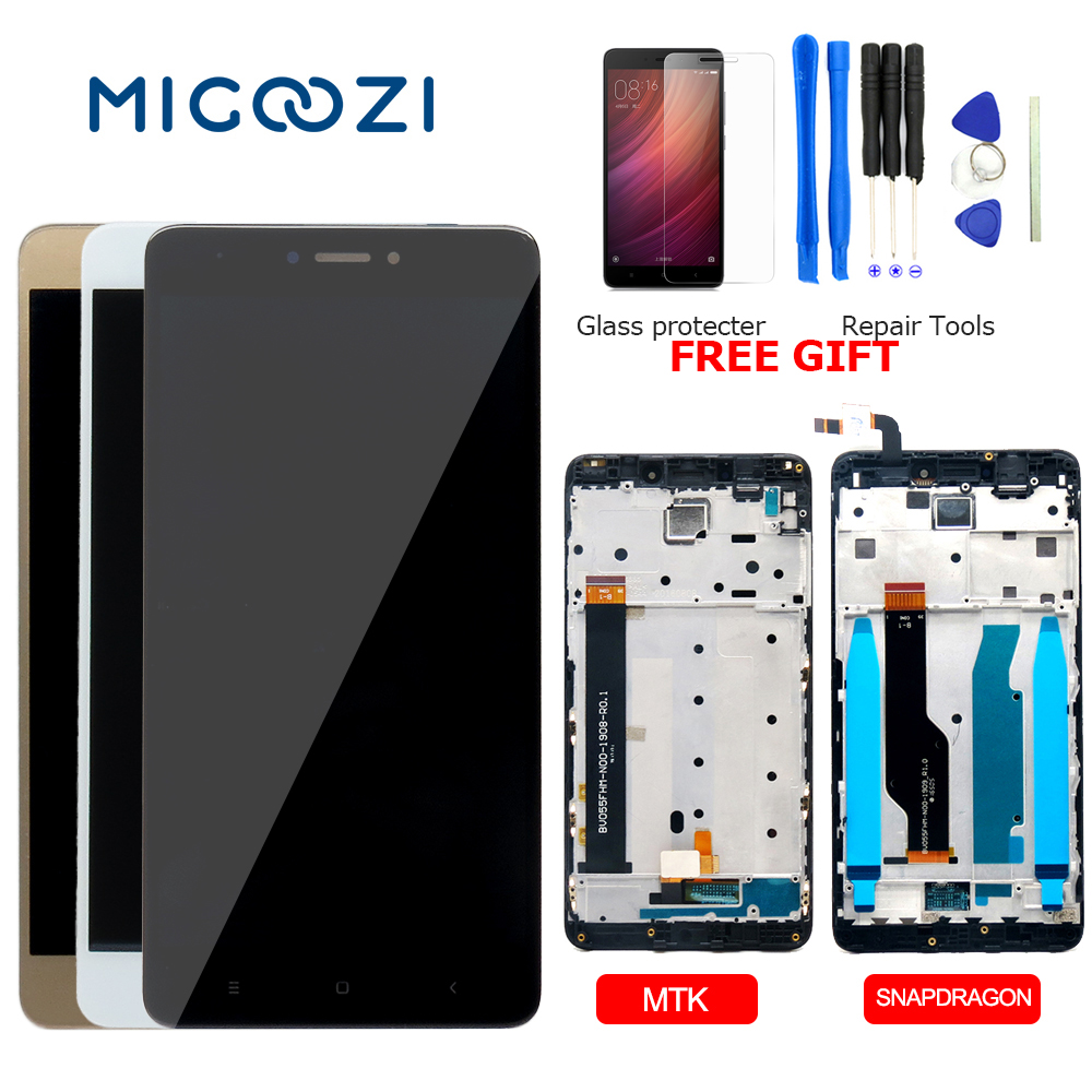 For Xiaomi Redmi Note 4 LCD Display Touch Screen Digitizer Assembly For Xiaomi Redmi Note 4X Display LCD Frame Replacement Parts