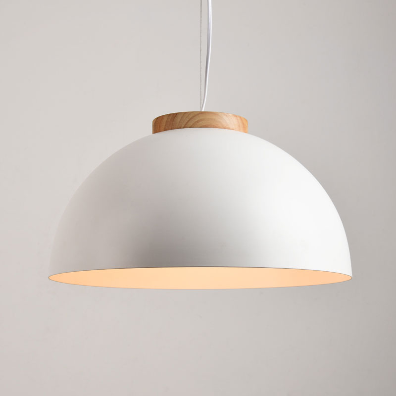 Modern LED Pendant Lights Round White Wooden Dining Lamp Hanging Light Iron Suspension Lighting Metal Lampshade 086 цена