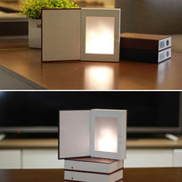 Novelty Flame Effect Book Led Night Lights Built In Lithium Battery Rechargeable USB LED Bed Room