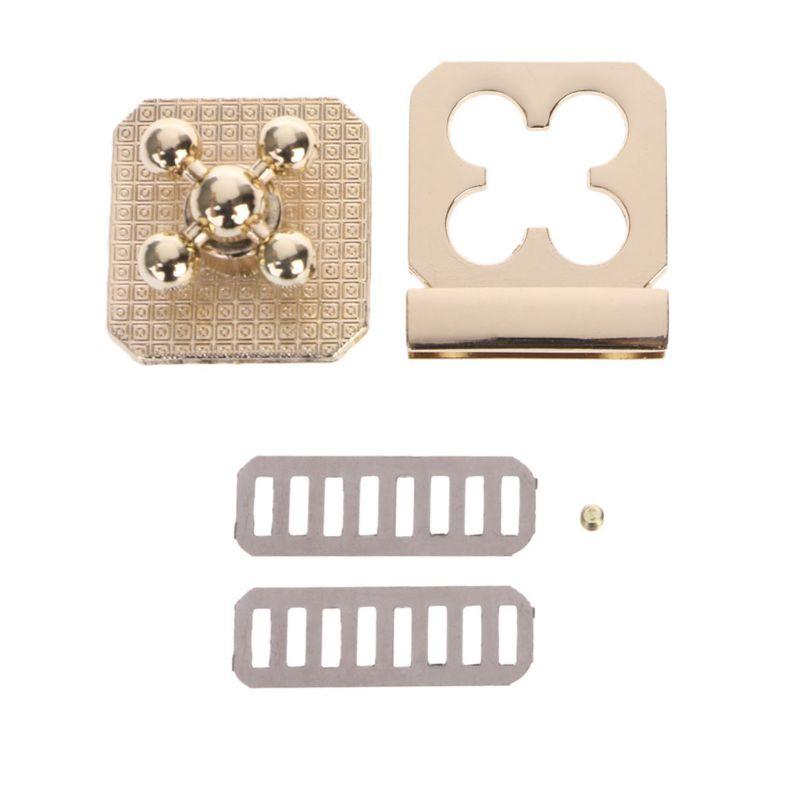 2.9x3.1cm Metal Clasp Turn Lock Twist Locks For DIY Handbag Craft Bag Purse Hardware Parts