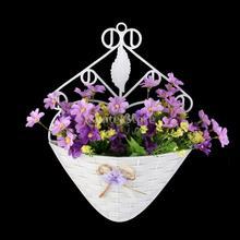 Artificial Wall Hanging Basket for Artificial Flowers Vase Storage Holder