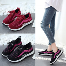 women sneakers 2019 zapatillas mujer casual Breathable Lightweight Lace Up Shoes women Lightweight Walking Shoes Breathable 718(China)