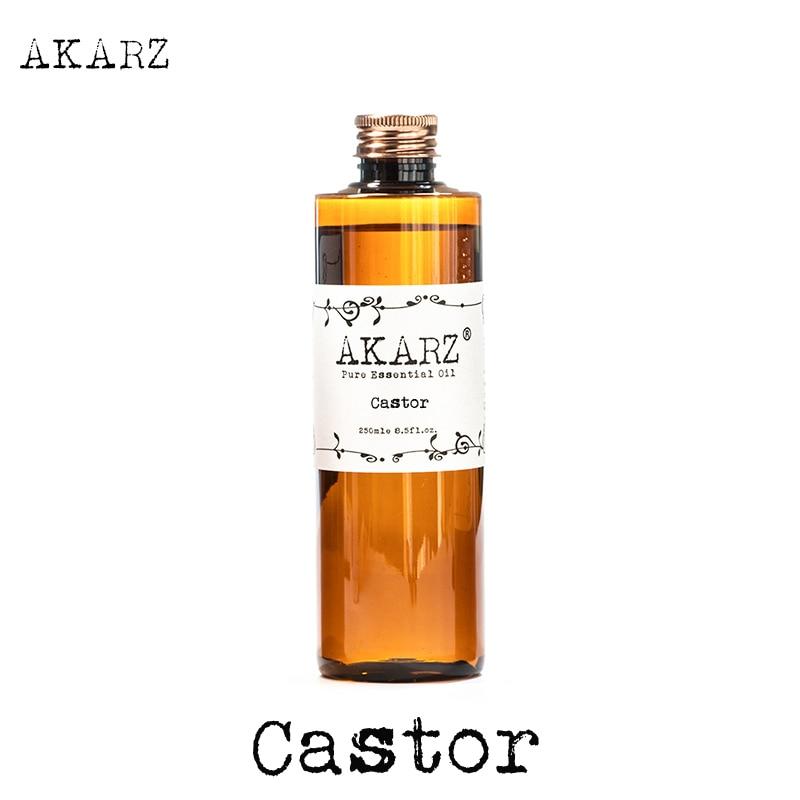 AKARZ Famosa marca de aceite de ricino aromaterapia natural piel de gran capacidad para el cuidado del cuerpo masaje spa aceite de ricino aceite esencial