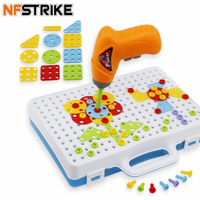 146Pcs Children Disassembly Screw Toys Electric Drill Block  Play Tools Model Building Blocks toys hobbies for boys kids new