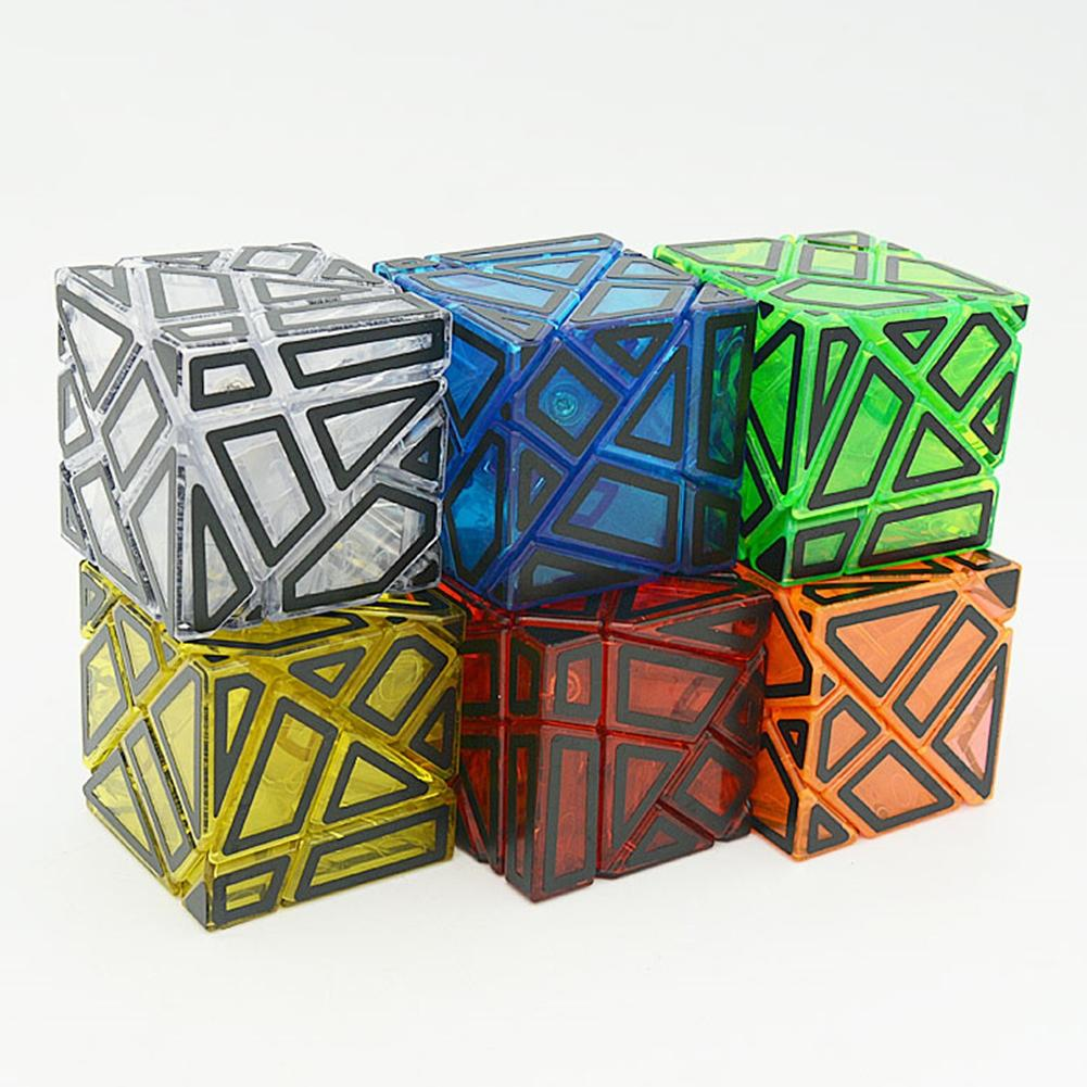 LeadingStar 3rd Magic Speed Cube Transparent Hollowed Brain Teaser Puzzles Toys for Kids Adults zk30