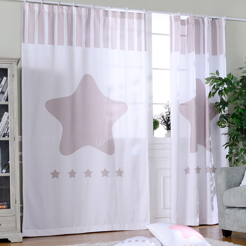 Living Room Ready Made Curtains Drapes Star Door Curtains For The Kitchen  Room Divider Finished Children Room Rustic Blind Panal In Curtains From  Home ... Part 94