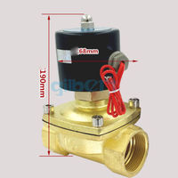 DC12/24V AC110/220V 1 1/2 BSPP 22W Normally Open Flow Pore 40mm Brass Gas Oil Water Solenoid Valve