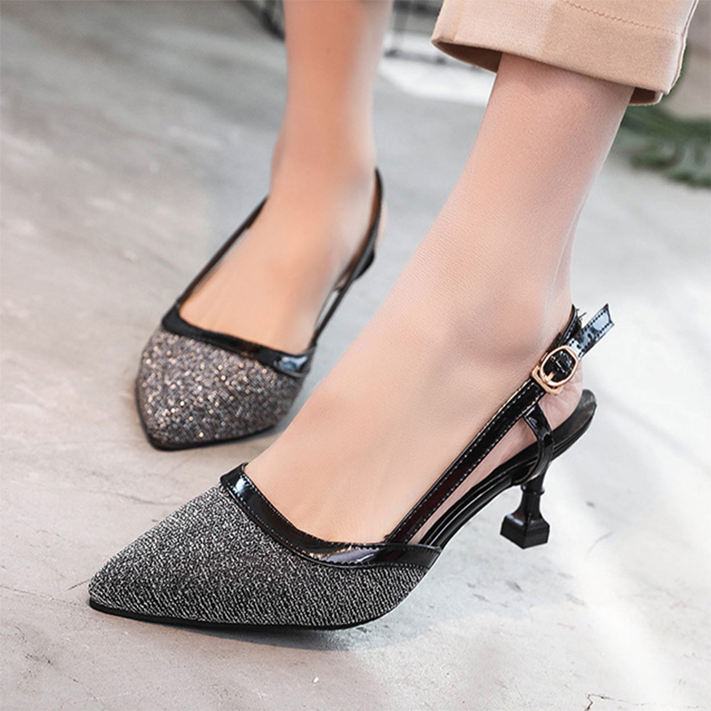 New Arrival Women Sandals Summer Shoes High heels Closed Toe Pumps Woman Dress Shoes Ladies Shoes sandalias zapatos mujer 6230
