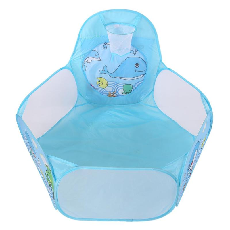 Childrens Foldable Tent Ocean Balls Pool Indoor Basket Tent Baby Kids Game Play House Toy Tent Baby Educational Toy For Gift