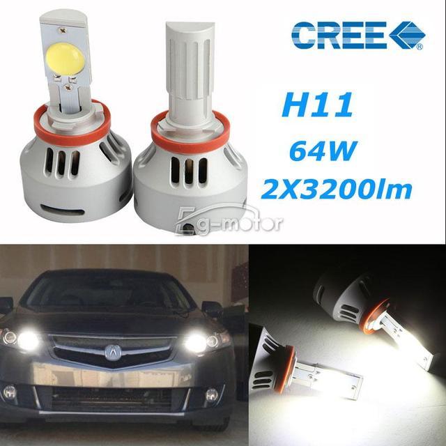 Shiping libre 3200LM 32 W LED proyector H11 CREE faro de niebla del bulbo bulbos de lámpara Kit + Drivers